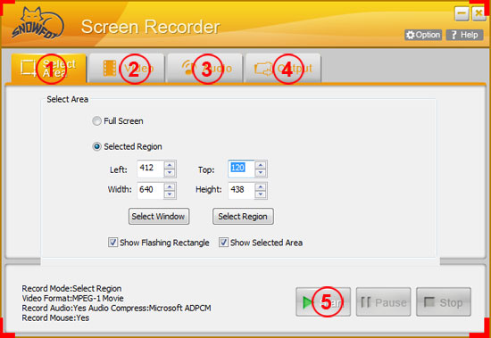 SnowFox Screen Recorder for Windows